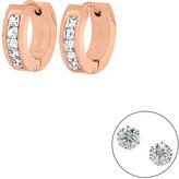 Diamond & Rose Gold Huggie Earrings & Stud Earrings