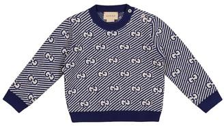 Gucci Kids Baby GG jacquard wool sweater
