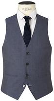 Kin By John Lewis Newick Panama Weave Slim Fit Waistcoat, Light Blue