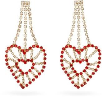 Rosantica Heart Crystal-embellished Chandelier Earrings - Red Multi