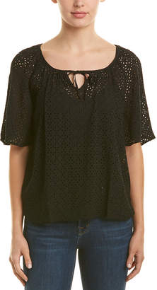 Three Dots Eyelet Top