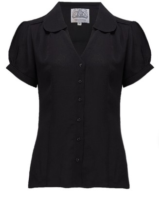 The Seamstress Of Bloomsbury Seamstress of Bloomsbury Black Judy Blouse Size 10