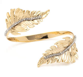 Alexis Bittar Double Feather Bypass Cuff Bracelet