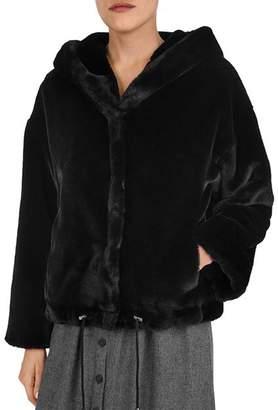 BA&SH Fojo Faux Fur Coat