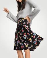 Ann Taylor Floral Pleated Full Skirt