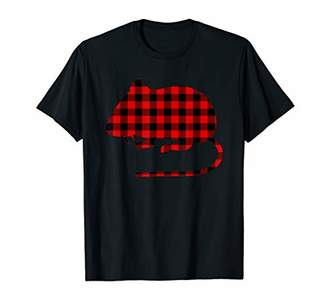 Buffalo David Bitton Mouse Red Plaid Rodent Rat Matching Family PJ Gift T-Shirt