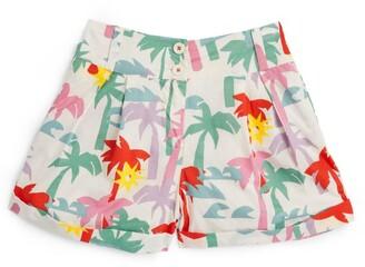 Stella McCartney Kids Palm Print Cotton Shorts (3-14+ Years)