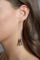 AK Vintage Jewelry Beneath Twin Leaves Earrings