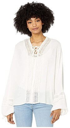 Bishop + Young Claudette Lace Front Top (White) Women's Clothing