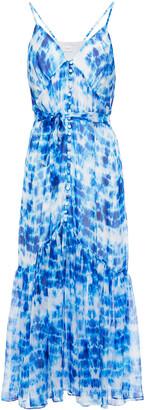 CAMI NYC Laurel Tie-dyed Silk-chiffon Midi Dress
