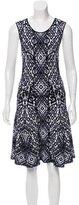 Torn By Ronny Kobo Patterned Midi Dress