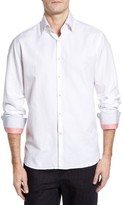 Stone Rose Men's Dobby Cotton & Linen Sport Shirt