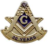 LPM Blue Lodge 30 Years Freemason Masonic Lapel Pin