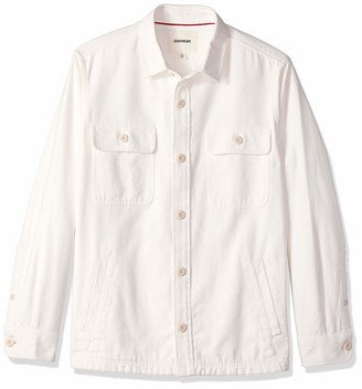 Goodthreads Men's Military Broken Twill Jacket Casual Shirt
