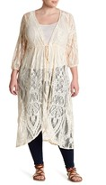 Hip Sheer Lace Duster (Plus Size)
