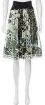 Catherine Malandrino Printed Silk Skirt