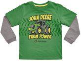 "John Deere Boys 4-7 Farm Power"" Mock-Layer Thermal Tee"