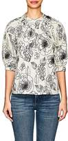 Co Women's Floral-Embroidered Cotton Blouse