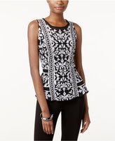 INC International Concepts Embroidered Peplum Top, Only at Macy's