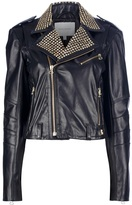 Balmain Pierre studded leather biker jacket
