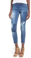 Articles of Society Women's Carly Crop Patchwork Skinny Jeans