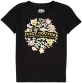 Juicy Couture Girls Logo Glamorous Jc Short Sleeve Tee