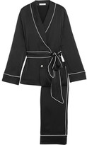 Equipment Odette Washed-silk Pajama Set - Black