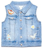 Margherita Toddler Girl's Patch Denim Vest