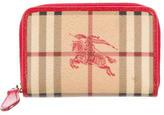 Burberry Haymarket Check Compact Ziggy Wallet
