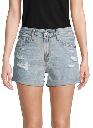 AG Jeans Hailey Ex-Boyfriend Roll-Up Denim Shorts