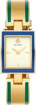 Tory Burch BUDDY BANGLE WATCH, GOLD-TONE/MULTI-COLOR/CREAM, 26 X 32 MM