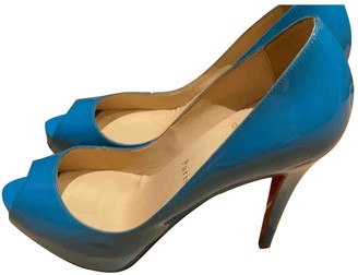 Christian Louboutin Very Prive Blue Patent leather Heels