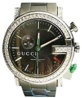 Gucci Ya101331 Diamond 101G Black PVD Mens Watch