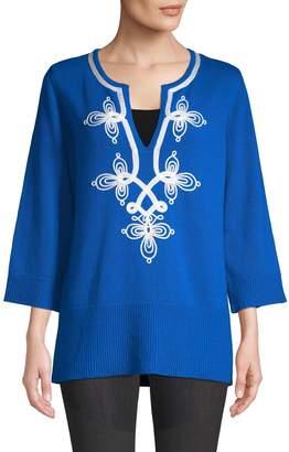 Michael Kors Soutache Embroidered Tunic