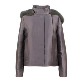 Valentino Grey Polyester Coats