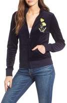 Juicy Couture Women's Pretty Thing Fairfax Velour Track Jacket