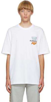 Burberry White Monogram Ganther T-Shirt