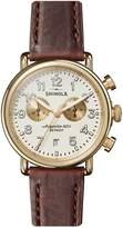 Shinola Runwell Chronograph Stainless Steel Leather-Strap Watch