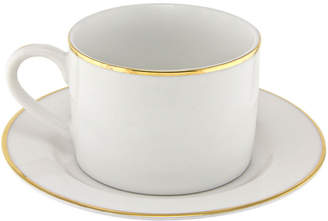 Ten Strawberry Street Gold Line Set Of 6 Cups & Saucers