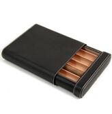 Bey-Berk Leather 5-Cigar Case