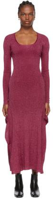 Lanvin Pink Knit Shiny Dress