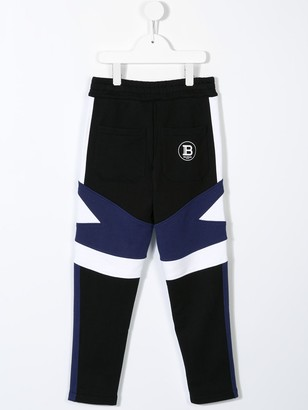 Balmain Kids Colour Block Track Pants