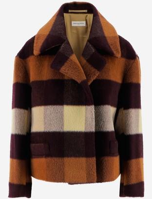 Dries Van Noten Checked Wool Women's Coat