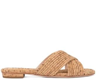 Schutz Cork Cross-Over Sandals