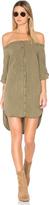 Bella Dahl Off Shoulder Button Front Dress