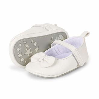 Sterntaler Baby-Ballerina Baby Girls Crawling Ballet Flats White (White 500) 4-6 month UK (15/16 EU)