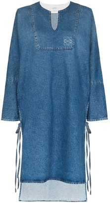 Loewe denim tunic shift dress