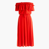 J.Crew Off-the-shoulder ruffle dress