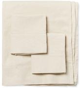 Melange Home Linen-Blend Classic Hemstitch Sheet Set