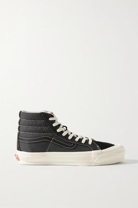 Vans Ua Og Sk8-hi Lx Canvas, Suede And Leather Sneakers - Black